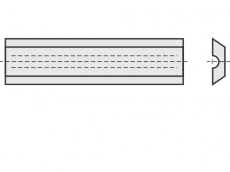 Mini Wendeschneideplatten 2 Schneidkanten + Brustnut