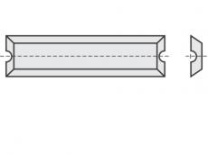 Mini Wendeschneideplatten 4 Schneidkanten + Brustnut