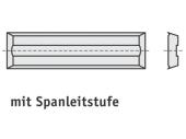 Mini Wendeschneideplatten 4 Schneidkanten + Spanleitstufe