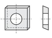 Spezial Wendeschneideplatten quadratisch System OERTLI
