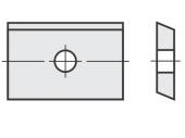 Spezial Wendeschneideplatten Rechteck mit 1 Loch System OERTLI