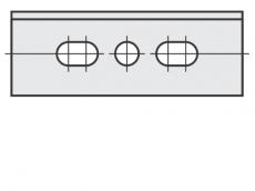 Spezial Wendeschneideplatten Rechteck mit 3 Löchern System OERTLI