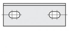 Spezial Wendeschneideplatten Rechteck mit 2 Löchern System OERTLI