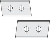 Standard  Trapezform 2 Schneidekanten mit 2 Löchern
