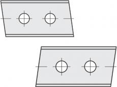 Standard Wendeschneidplatten Trapezform 2 Schneidekanten mit 2 Löchern
