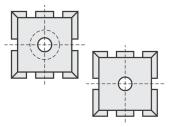 Spezial Wendeschneideplatten quadratisch mit Spanbrechernuten