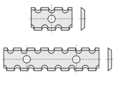 Spezial Wendeschneideplatten Rechteck  mit Spanbrechernuten