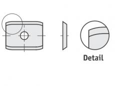 Spezial Wendeschneideplatten Rechteck  mit abgerundete Schneidekanten