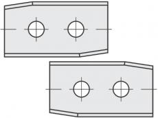 Standard Wendeschneidplatten Rechteck 2 angewinkelte Schneidekanten mit 2 Löchern