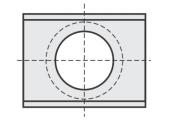 Standard  Rechteck 2 Schneidekanten mit großer Bohrung