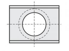 Standard Wendeschneidplatten Rechteck 2 Schneidekanten mit großer Bohrung