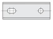 Standard  Rechteck 2 Schneidekanten mit 2 Löchern