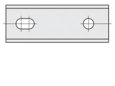 Standard Wendeschneidplatten Rechteck 2 Schneidekanten mit 2 Löchern