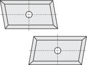 Standard  Trapezform 4 Schneidekanten mit 1 Loch