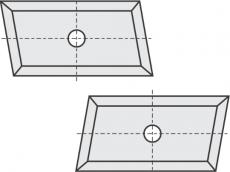 Standard Wendeschneidplatten Trapezform 4 Schneidekanten mit 1 Loch