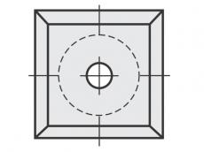 Standard Wendeschneidplatten quadratisch 4 Schneidekanten mit 1 Loch diverse Bohrungen