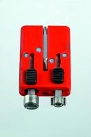 Universal-Schaltschrankschlüssel in Kunststoff-Schiebebox mit Bitaufnahme und Wendebit