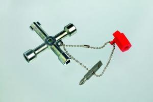 Universal-Schaltschrankschlüssel mit Kette Bit und Adapter