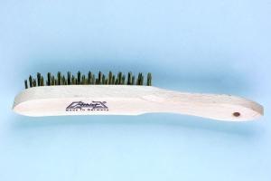 Handdrahtbürste Holzkörper Stahldraht 0