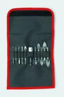 Bit Fliesen- / Glasbohrer Sortiment mit Schnellwechselmagnethalter QuickFix 11-tlg.