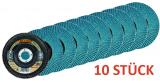 10 x Lamellenschleifscheibe Rhodius LSZ F2 - 115 Korn 40