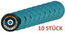 10 x Lamellenschleifscheibe Rhodius LSZ F2 - 125 Korn 40