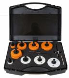 MandreX Lochsägen Sortiment HM+Bi-Metall inkl. MXqs-System & Lochrandsenker (12-teilig) Ø 35/68/76/83 mm   WELTNEUHEIT