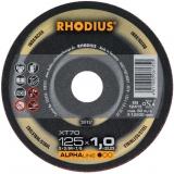 100 x Rhodius XT70 Metall Trennscheibe 125x1.0