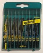 Wolfcraft 10tlg. Stichsägeblatt Set Restposten - alter Makita Schaft
