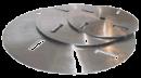 Chromstahl-Schälblätter
